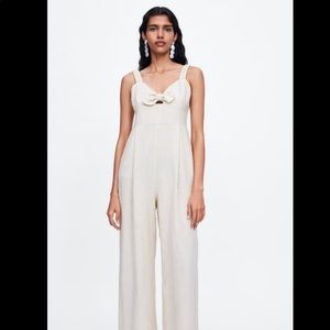 Zara NWT jumpsuit with knot